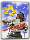Mont Tremblant, Quebec/Canada Vintage Skiing Travel Canvas. Sizes: A4/A3/A2/A1 (002694)